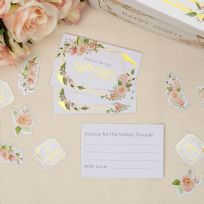 Geo Floral Advice & Wishes Cards (25)